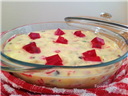 Dry fruit custard pudding.
