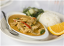 Chicken in hot coconut sauce