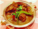 Mutton curry with lemon juice