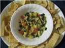 Nachos and Cucumber Salsa