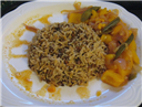 Irani Pulao with bellpeppers