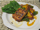 Grilled Salmon with hot and sour vinegar sauce