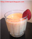 Non fat Stawberry Mango Lassi