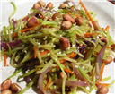 Quick and Easy Cole Slaw Stir fry with Peanuts