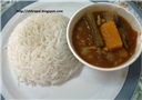 Sambar and Rice