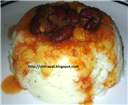 Velvet Mashed Potatoes with Read Beans