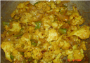 Cauliflower capsicum curry