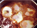 nested eggs gravy