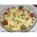 Fruit custard pudding