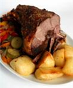 Roasted lamb and veggie