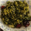 Greens in moong dal