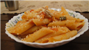 Pasta in saucy vegetables