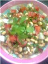Healthy soyabean salad