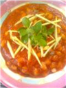 Soyabeans in gingery tomato sauce