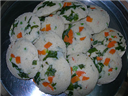 Vegetable masala idli