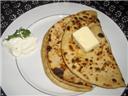 Cheese and coriander paratha