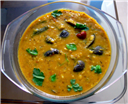 Brinjal Sambar using Microwave Oven