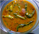 Anchovy Fish Kuzhambu using Microwave Oven