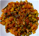 Potato-Greenpeas Masala
