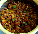 Potato-Mattar Corn Stirfry