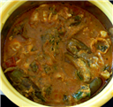 Dropped Egg-Brinjal Curry