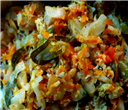 Cabbage-Raw Banana Poriyal(Stir-Fry)