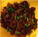 Crispy Onion Mutton Fry