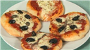 Mini Feta Cheese Pizzas