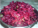 Mince and Beetroot Gravy