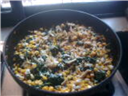 Cheesy Corn Spinach