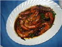 Junbo Prawns in Hot Garlic sauce