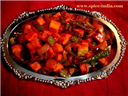 tandoori paneer with vegetables