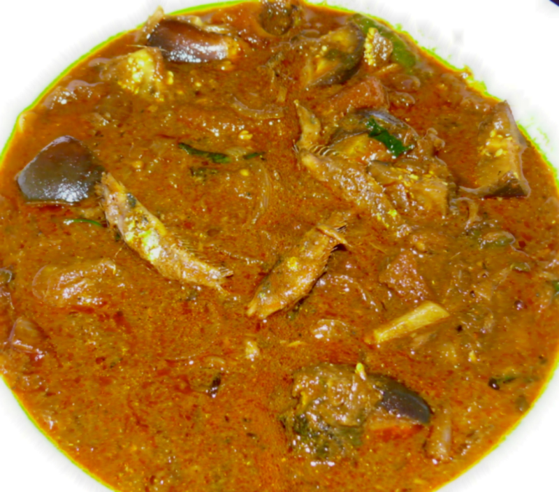 Dry fish brinjal kuzhambu for Dry fish recipe